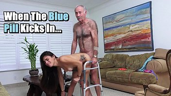 blue pill men - michelle martinez fucked by geriatric stud who s still slinging dick in his old age