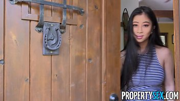 propertysex - real estate agent with big natural tits fucks client