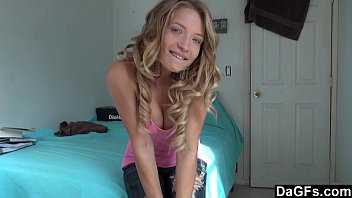 home alone hot teen gets orgams on webcam