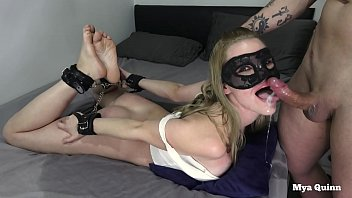 bdsm slut hands tied sloppy facefuck fisting piss drinking cum swallow - mya quinn